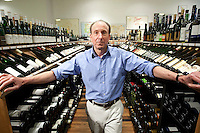Chambers Street Wines co-owner David Lillie poses for the photographer in his store in New York, NY, USA, 22 May 2009. The store specializes in naturally made wines from artisanal small producers and has received a Slow Food NYC Snail of Approval.