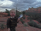 Ronin showing me his helicopter taking a tour of the red rocks.