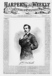 Civil War: President Lincoln's assassin, the actor John Wilkes Booth on the cover Harper's Weekly April 29, 1865