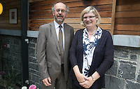 ***NO FEE PIC ***<br /> 11/06/2014<br /> (L to R) Tony McQuinn &amp;<br /> Catherine Hickey  during The Mercy Law Resource Centre's Annual Report for 2013 at Sophia Housing on Cork Street, Dublin.<br /> Photo:  Gareth Chaney Collins