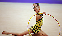 Nataliya Leshchyk of Belarus (junior) performs at 2010 World Cup at Portimao, Portugal on March 11, 2010.  (Photo by Tom Theobald)