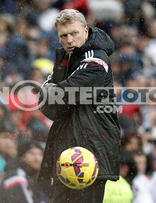 Real Sociedad's coach David Moyes during La Liga match.January 31,2015. (ALTERPHOTOS/Acero) /NortePhoto<br /> /NortePhoto.com