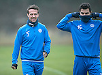St Johnstone Training&hellip;.16.12.16<br />Chris Millar and Richie Foster pictured during training this morning at a wet and foggy McDiarmid Park<br />Picture by Graeme Hart.<br />Copyright Perthshire Picture Agency<br />Tel: 01738 623350  Mobile: 07990 594431