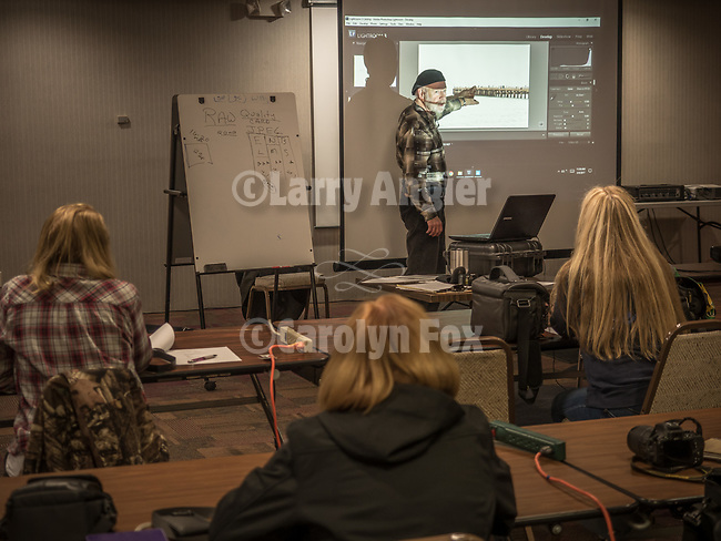 Craig Moore from Carson City explains camera RAW vs. JPEG clearly to his basic camera class during Shooting the West XXIX, Winnemucca, Nevada, The Nevada Photography Experience<br /> <br /> <br /> @CraigMoore<br /> <br /> <br /> <br /> <br /> <br /> #WinnemuccaNevada, #ShootingTheWest, #ShootingTheWest2017, @WinnemuccaNevada, @ShootingTheWest, @ShootingTheWest2017