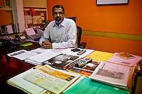 Raju Narisetti, publisher and editor of Mint, India's fastest growing business newspaper, poses for a photograph in his office on 10th November 2008.  Photo by Suzanne Lee for The National.