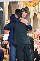 Adam Levine &amp; Blake Shelton at the Hollywood Walk of Fame Star Ceremony honoring singer Adam Levine. Los Angeles, USA 10 February  2017<br /> Picture: Paul Smith/Featureflash/SilverHub 0208 004 5359 sales@silverhubmedia.com