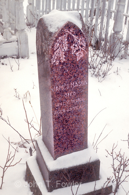 Grave of James Mason, Cemetery at Carcross, Yukon Territory, Canada