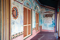 Front veranda of a home in Nagore, South India, Tamil Nadu.