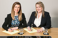 Pictured at Gateley Leicester are newlly-promoted solicitors Natalie Howes (left) and Claire Herbert