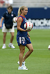 1 August 2004: Heather Mitts. The United States defeated China 3-1 at Rentschler Field in East Hartford, CT in an women's international friendly soccer game..