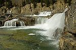 Several waterfalls on the Kootenai river