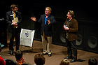 Sept. 18, 2011; Actors Martin Sheen and Emilio Estevez take questions after a screening of their film &quot;The Way&quot; in the Browning Cinema...Photo by Matt Cashore/University of Notre Dame
