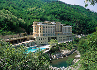 Italy, Liguria, inland, Pigna: Grand Hotel - Therme di Pigna