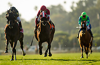 ARCADIA, CA - MARCH 11: Bal A Bali #1, ridden by Javier Castellano defeats What A View #7, ridden by Tyler Baze to win the SaFrank E. Kilroe Mile Stakes at Santa Anita Park on March 11, 2017 in Arcadia, California. (Photo by Alex Evers/Eclipse Sportswire/Getty Images)