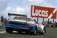 LE MANS, FRANCE: The Chevrolet Camaro of Tom Williams, Dick Brooks and Hershel McGriff is driven through the Ford Chicane during practice for the 24 Hours of Le Mans on June 20, 1982, at Circuit de la Sarthe in Le Mans, France.