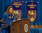 May 17, 2014; Kerry Ann Rockquemore, '99 Ph.d. President and CEO, National Center for Faculty Development and Diversity gives the Commencement address at the 2014 Graduate School ceremony. Photo by Matt Cashore/University of Notre Dame