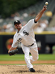 CHICAGO - JULY 27:  John Danks #50 of the Chicago White Sox pitches against the Detroit Tigers on July 27, 2011 at U.S. Cellular Field in Chicago, Illinois.  The White Sox defeated the Tigers 2-1.  (Photo by Ron Vesely)  Subject: John Danks