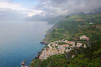 Seaside villages, rugged coastline, Cinque Terra, Italy