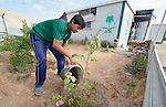 Karem Hawari waters the plants around his home in the Zaatari refugee camp near Mafraq, Jordan. Established in 2012 as Syrian refugees poured across the border, the camp held more than 80,000 refugees by 2015, and was rapidly evolving into a permanent settlement, with many refugees moving out of tents and into modular houses. The ACT Alliance provides a variety of services to refugees living in the camp.