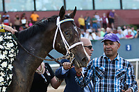 HOT SPRINGS, AR - April 15: Classic Empire #2 after winning the Arkansas Derby at Oaklawn Park on April 15, 2017 in Hot Springs, AR. (Photo by Ciara Bowen/Eclipse Sportswire/Getty Images)