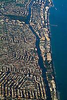 Aerial View, Ft. Lauderdale, Port Everglades Florida, Inter Coastal Waterway