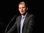 Ashburn, VA - August 2, 2016: Eric Trump speaks during a Donald Trump campaign event in Ashburn, VA., August 2, 2016.  (Photo by Don Baxter/Media Images International)