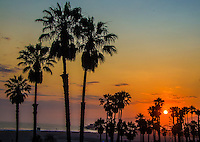 Santa Monica amid the sunset on Monday, July 1, 2013.