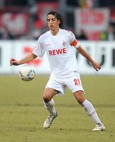 FUSSBALL   1. BUNDESLIGA  SAISON 2011/2012   22. Spieltag 1 FC Nuernberg - 1. FC Koeln       18.02.2012 Pedro Geromel (1. FC Koeln)