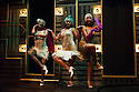 London, UK. 23.10.2014. A HARLEM DREAM choreographed by Ivan Blackstock, opens in the Maria, at the Young Vic. Picture shows: Rhea T-W, Shannelle 'Tali' Fergus, L'atisse Rhoden. Photograph © Jane Hobson.