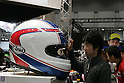 Mar 26, 2010 - Tokyo, Japan - A visitor look at a big an helmet on display during the 37th Tokyo Motorcycle Show at Tokyo Big Sight on March 26, 2010. The event is the Japan's largest motorcycle exhibition and it will be held until March 28 this year. (Photo Laurent Benchana/Nippon News)