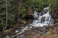Spring flow at beautiful Wagner Falls in Munising, MI.