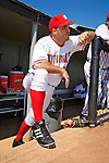8 March 2006: Nick Johnson, first baseman for the Washington Nationals, awaits the start of a Spring Training game against the St. Louis Cardinals. The Cardinals defeated the Nationals 7-4 in 10 innings at Space Coast Stadium, in Viera, Florida...Mandatory Photo Credit: Ed Wolfstein.