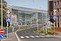 Boulevard Conrad Adenauer. The European Investment bank in Luxembourg city