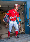 28 February 2017: Washington Nationals outfielder Andrew Stevenson steps up from the tunnel and into the dugout prior to the inaugural Spring Training game between the Washington Nationals and the Houston Astros at the Ballpark of the Palm Beaches in West Palm Beach, Florida. The Nationals defeated the Astros 4-3 in Grapefruit League play. Mandatory Credit: Ed Wolfstein Photo *** RAW (NEF) Image File Available ***