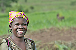 A woman student at an agricultural school sponsored by the United Methodist Committee on Relief (UMCOR) in Kaminsamba, Democratic Republic of the Congo. Participants, some of whom stay at the center for several weeks, learn sustainable agricultural practices, animal traction, and beekeeping.