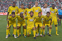 Columbus Crew satrating eleven. CD Chivas USA defeated the Columbus Crew 3-1 at Home Depot Center stadium in Carson, California on Saturday July 31, 2010.