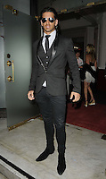 Ollie Locke.The Prince Albert II of Monaco Olympians Reception, Old Burberry Building, Haymarket, London, England..August 9th, 2012.full length black suit sunglasses shades .CAP/CAN.©Can Nguyen/Capital Pictures.