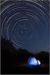 Star Trails over the course of three hours while camping with my daughter in the Texas Hill Country.