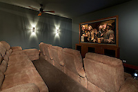 Stock photo of home theater/ media room