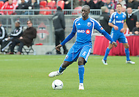 20 October 2012: Montreal Impact midfielder Hassoun Camara #6 in action during an MLS game between the Montreal Impact and Toronto FC at BMO Field in Toronto, Ontario..The game ended in a 0-0 draw..