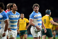 Julian Montoya of Argentina looks on during a break in play. Rugby World Cup Semi Final between Argentina v Australia on October 25, 2015 at Twickenham Stadium in London, England. Photo by: Patrick Khachfe / Onside Images