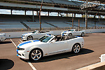USA, Indiana, Indianapolis Motor Speedway, pace cars during off season scene of the annual Indy 500 car race.