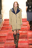 Karmen Pedaru walks runway in an outfit from the Tommy Hilfiger Fall 2011 Bohemian Prep collection, during Mercedes-Benz Fashion Week Fall 2011.