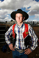 A Jackaroo (Cowboys apprentice) is pictured at the National schools rodeo final in Dubbo, New South Wales..Rodeo is an integral part of rural Australian lifestyle and competitors travel great distances to compete on the circuit. Rodeo consists of many events ? ladies barrel race, saddle bronc riding, bull riding, bareback bronc riding, rope and tie, steer wrestling, team roping and the steer ride. .