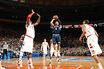 in action against Georgetown and Syracuse in the quarterfinals of the 2010 Big East Basketball Championship at Madison Square Garden in New York, NY., March 11, 2010.