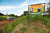 Road sign near Boabeng-Fiema  Monkey Sanctuary, Ghana