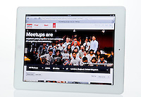 Apple Ipad showing Meetup Website  - Jan 2013.