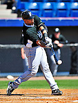 8 March 2010: Florida Marlins' catcher Ronny Paulino in action during a Spring Training game against the Washington Nationals at Space Coast Stadium in Viera, Florida. The Marlins defeated the Nationals 12-2 in Grapefruit League action. Mandatory Credit: Ed Wolfstein Photo