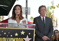 LOS ANGELES, CA. October 25, 2016: Diane Farr &amp; Hugh Laurie at the Hollywood Walk of Fame star ceremony honoring British actor Hugh Laurie.<br /> Picture: Paul Smith/Featureflash/SilverHub 0208 004 5359/ 07711 972644 Editors@silverhubmedia.com
