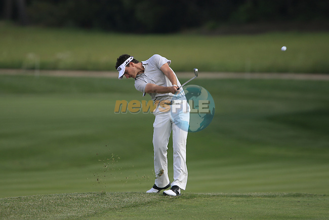 Alejandro Canizares (ESP) plays his 3rd shot on the 17th hole during Day 1 of the Open de Espana at Real Club De Golf El Prat, Terrasa, Barcelona, 5th May 2011. (Photo Eoin Clarke/Golffile 2011)